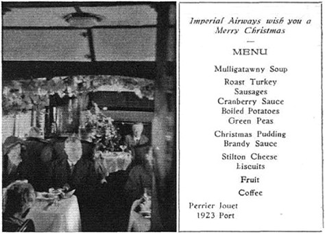 Imperial Airways Christmas lunch 1933